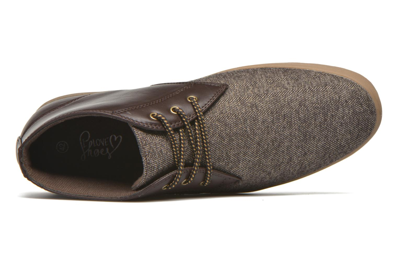 Sneaker I Love Shoes SUPEVRON braun ansicht von links