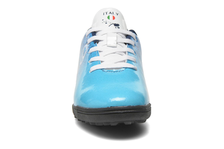 Sportschuhe EURO 16 Victor blau schuhe getragen