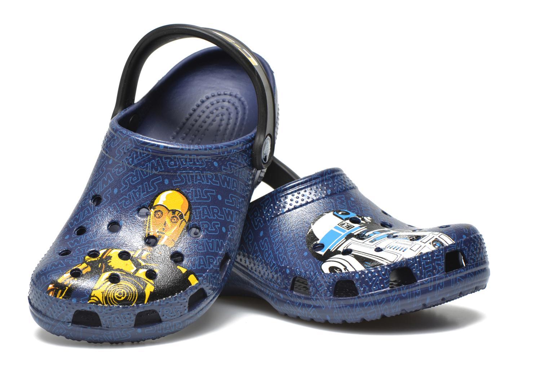 Sandales et nu-pieds Crocs Classic Star Wars R2D2 C3PO Bleu vue 3/4