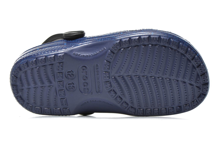 Sandales et nu-pieds Crocs Classic Star Wars R2D2 C3PO Bleu vue haut