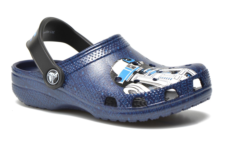 Sandalias Crocs Classic Star Wars R2D2 C3PO Azul vista de detalle / par