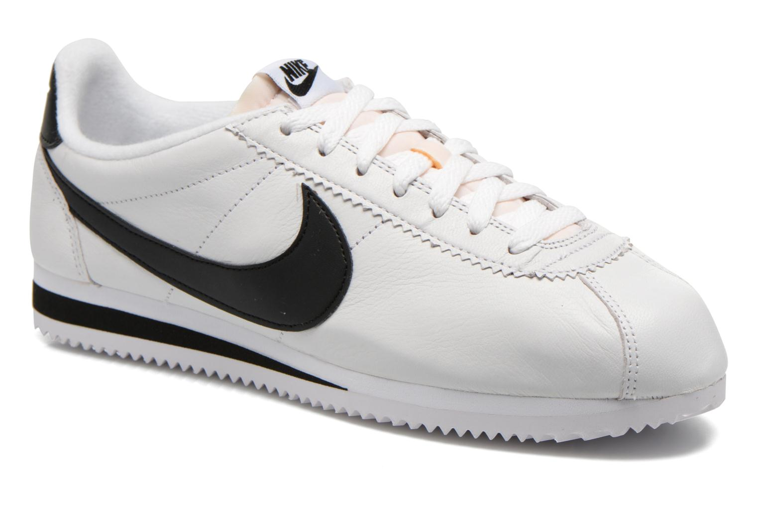 Black/White-Neutral Grey Nike Classic Cortez Prem (Noir)