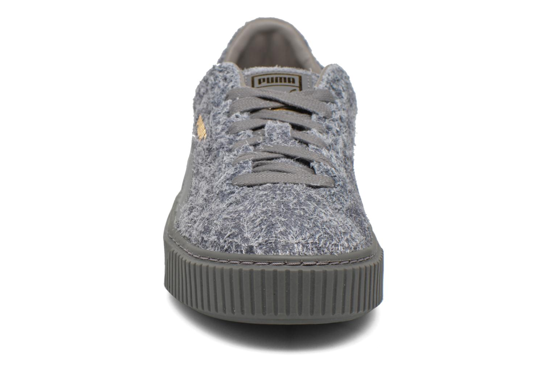 Sneaker Puma Suede Creeper Elemental grau schuhe getragen