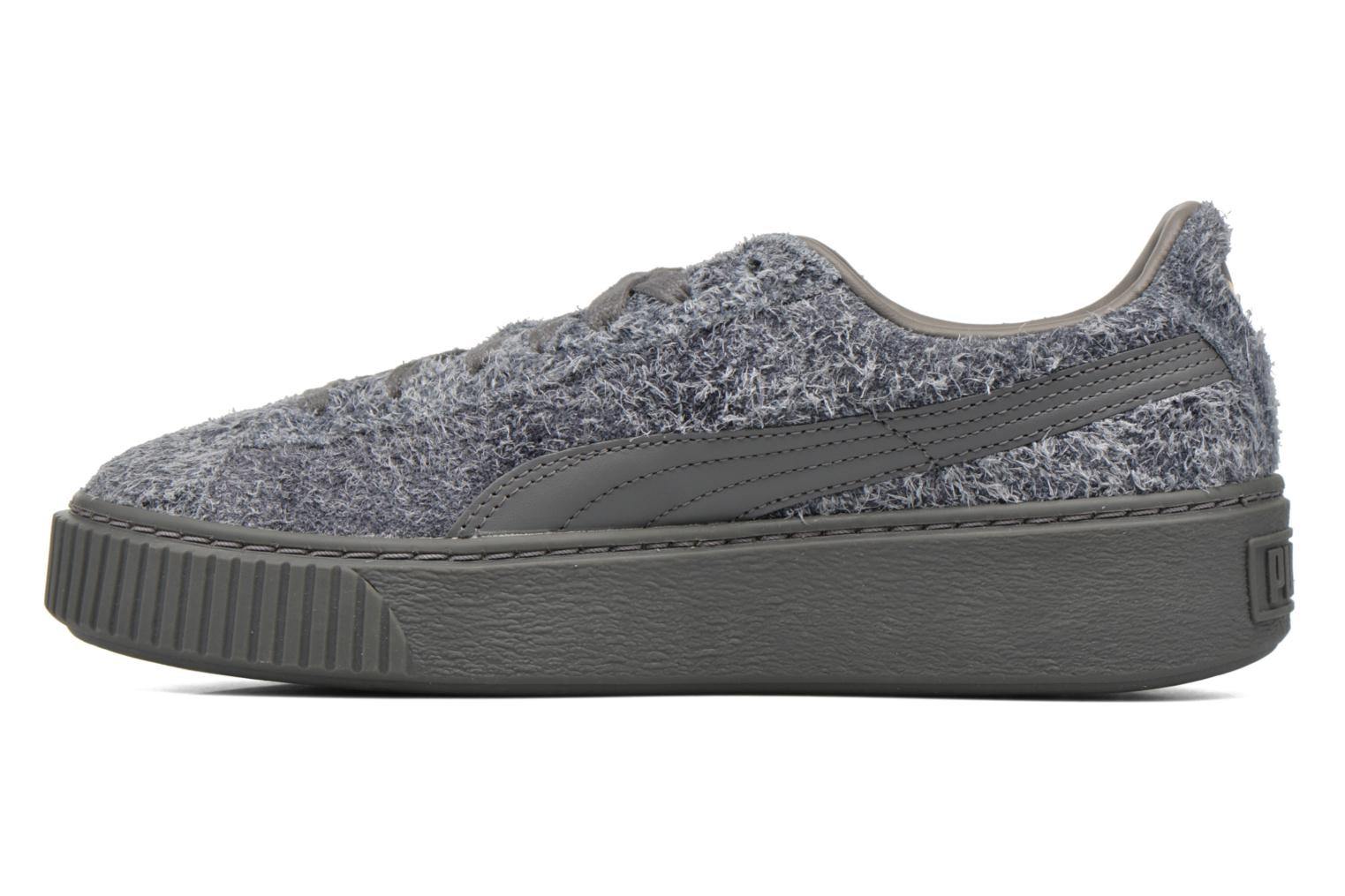 Baskets Puma Suede Creeper Elemental Gris vue face