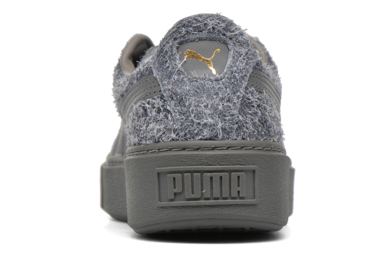Sneaker Puma Suede Creeper Elemental grau ansicht von rechts