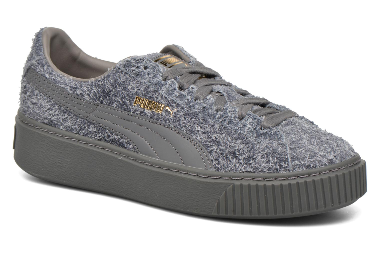 Baskets Puma Suede Creeper Elemental Gris vue détail/paire
