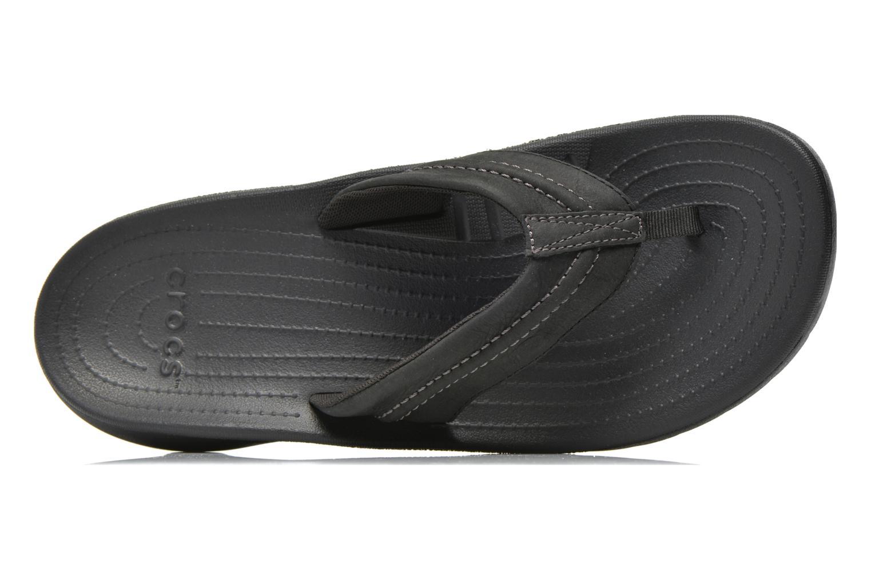 Tongs Crocs Yukon Mesa Flip M Noir vue gauche