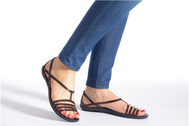 Sandales et nu-pieds Crocs Crocs Isabella Sandal W Noir vue bas / vue portée sac