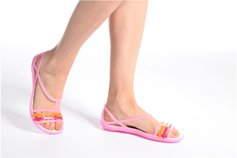 Sandalen Crocs Crocs Isabella Sandal W blau ansicht von unten / tasche getragen