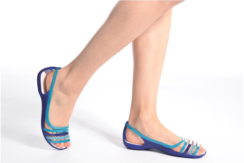 Sandales et nu-pieds Crocs Crocs Isabella Huarache Flat W Bleu vue bas / vue portée sac