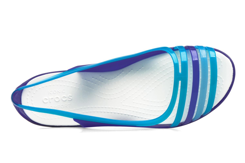 Sandales et nu-pieds Crocs Crocs Isabella Huarache Flat W Bleu vue gauche