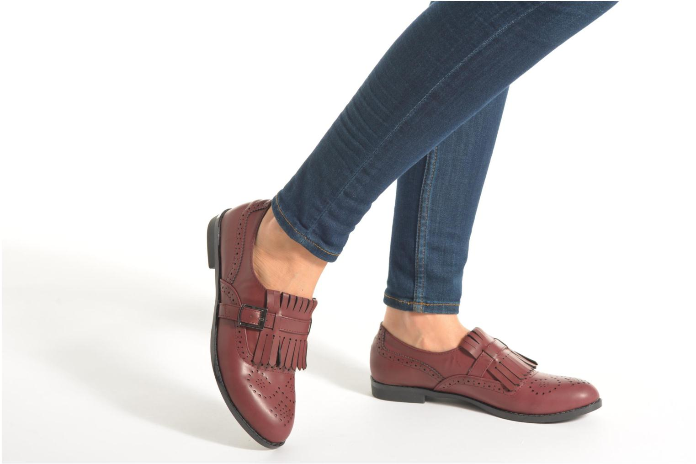 Mocassins I Love Shoes KIFASSE Bordeaux vue bas / vue portée sac