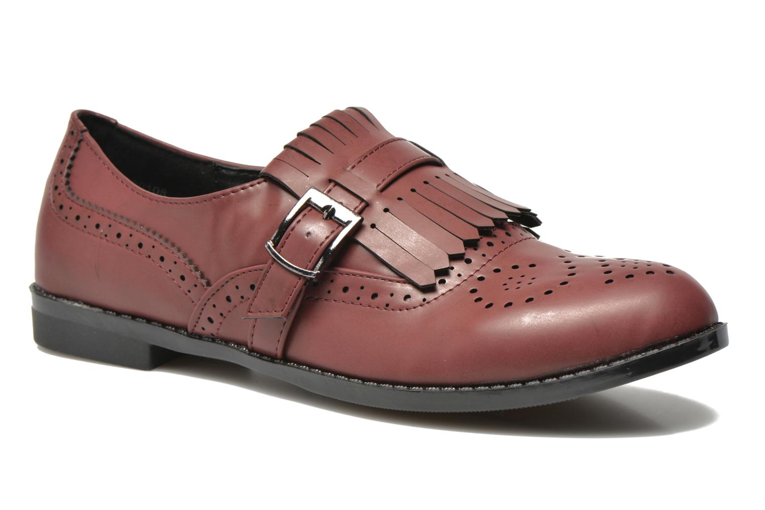 Loafers I Love Shoes KIFASSE Burgundy detailed view/ Pair view