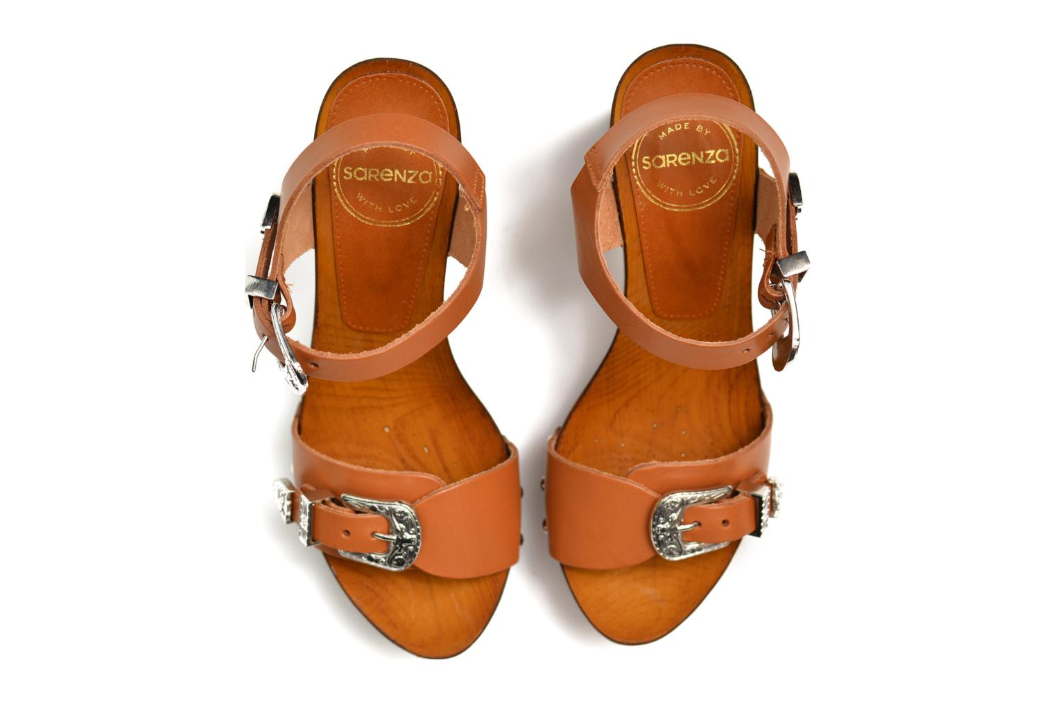 Sandals Made by SARENZA Discow Girl #10 Brown 3/4 view