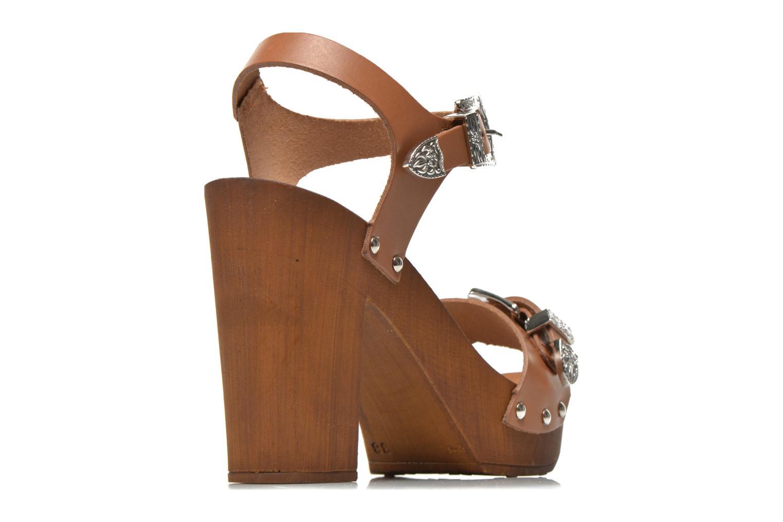 Sandales et nu-pieds Made by SARENZA Discow Girl #10 Marron vue portées chaussures