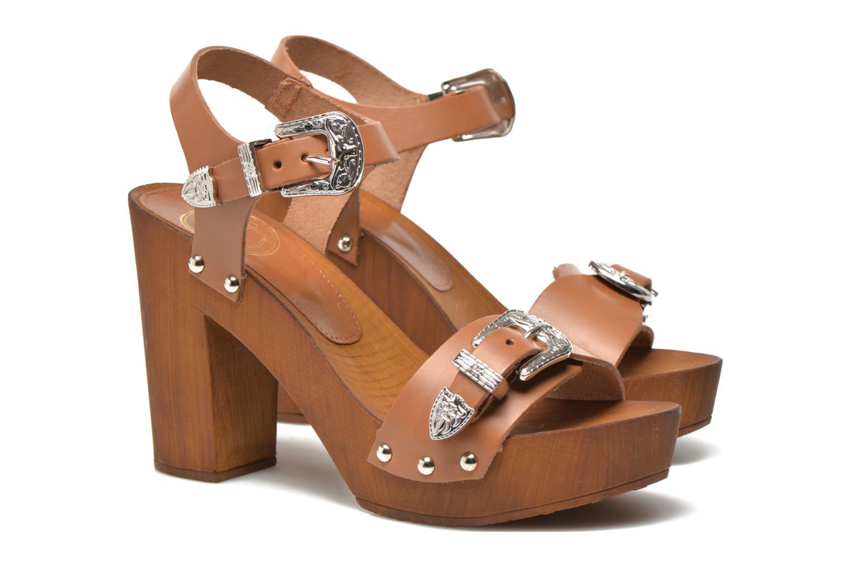 Sandalias Made by SARENZA Discow Girl #10 Marrón vista lateral derecha