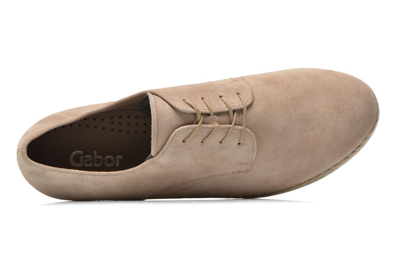 Snörade skor Gabor Lilo Beige bild från vänster sidan