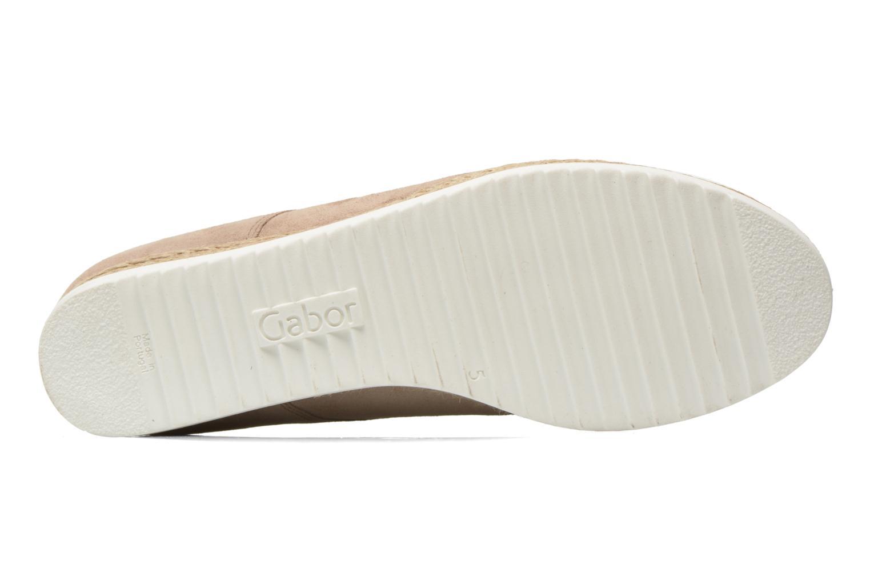 Snörade skor Gabor Lilo Beige bild från ovan