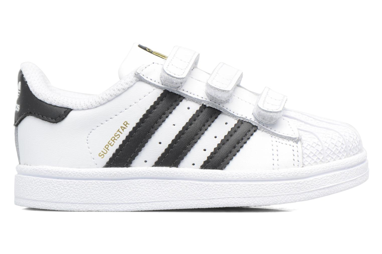 Baskets Adidas Originals Superstar CF I Blanc vue derrière