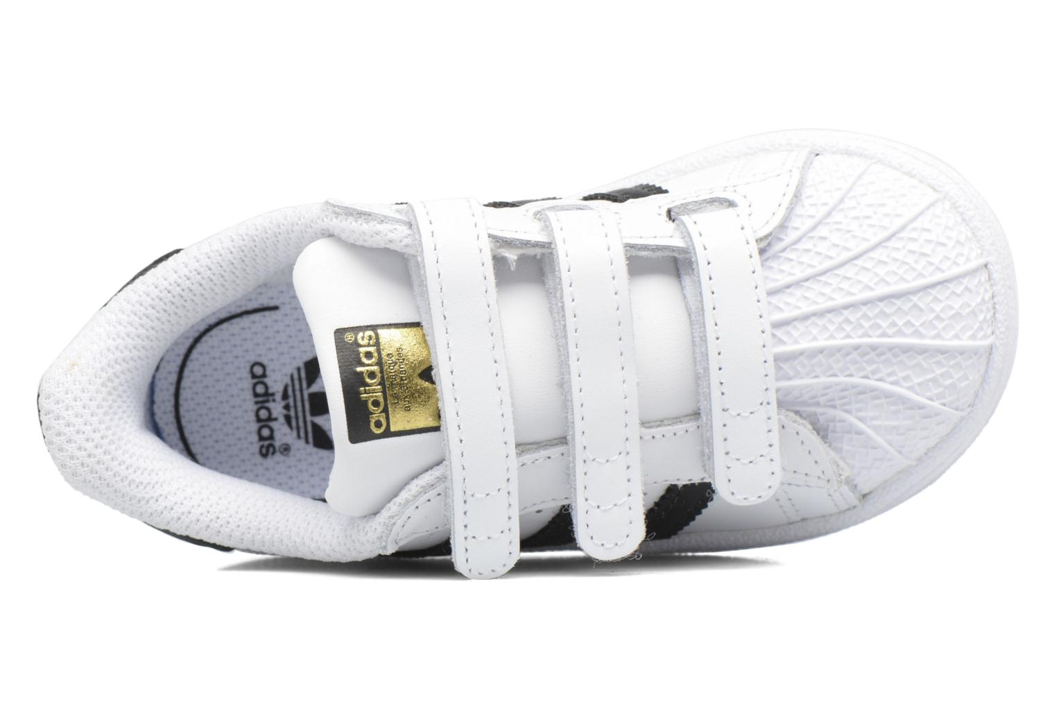 Baskets Adidas Originals Superstar CF I Blanc vue gauche