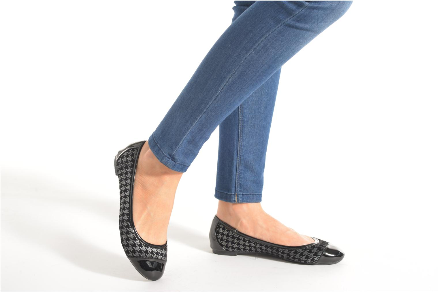 Ballet pumps I Love Shoes DRELINS Black view from underneath / model view