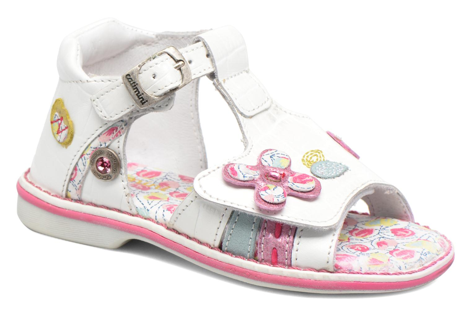 Sandals Catimini Cicadelle White detailed view/ Pair view