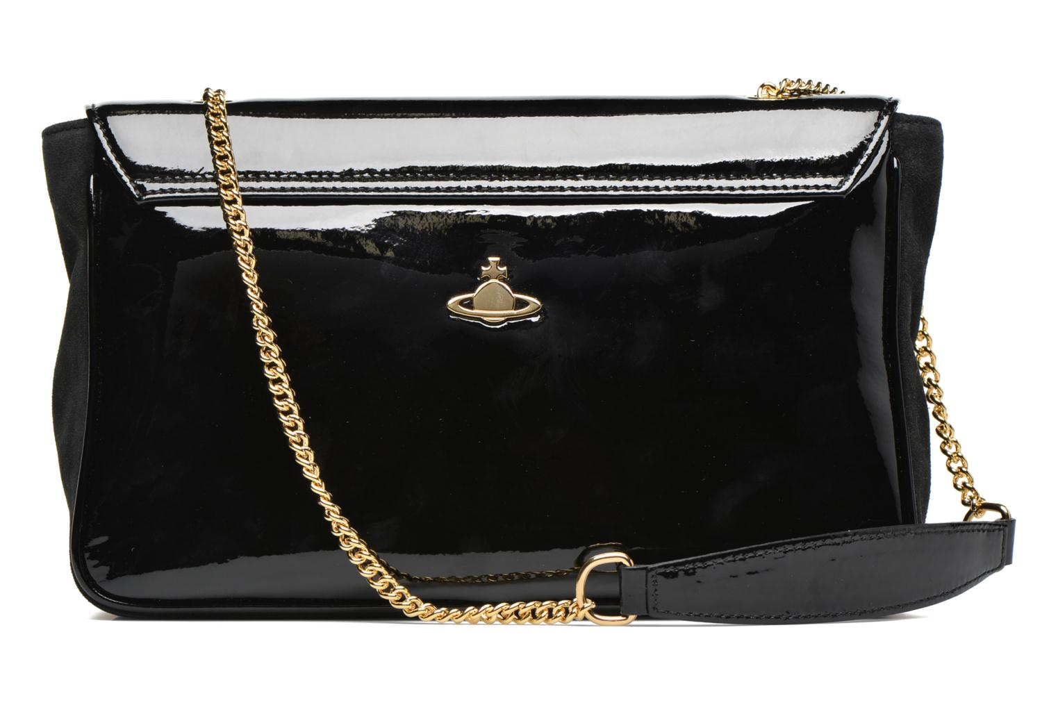 Sacs à main Vivienne Westwood MIRROR BALL Shoulder bag Noir vue face