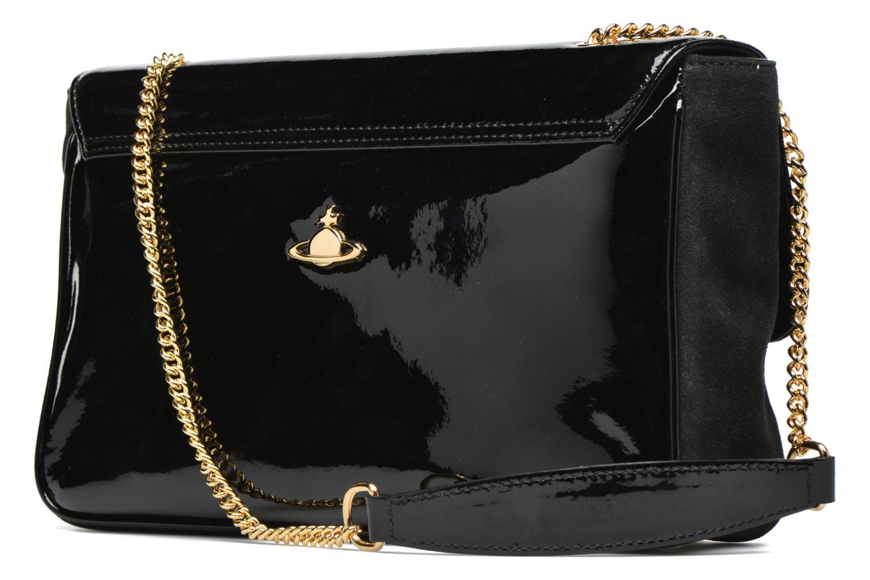 Handtaschen Vivienne Westwood MIRROR BALL Shoulder bag schwarz ansicht von rechts