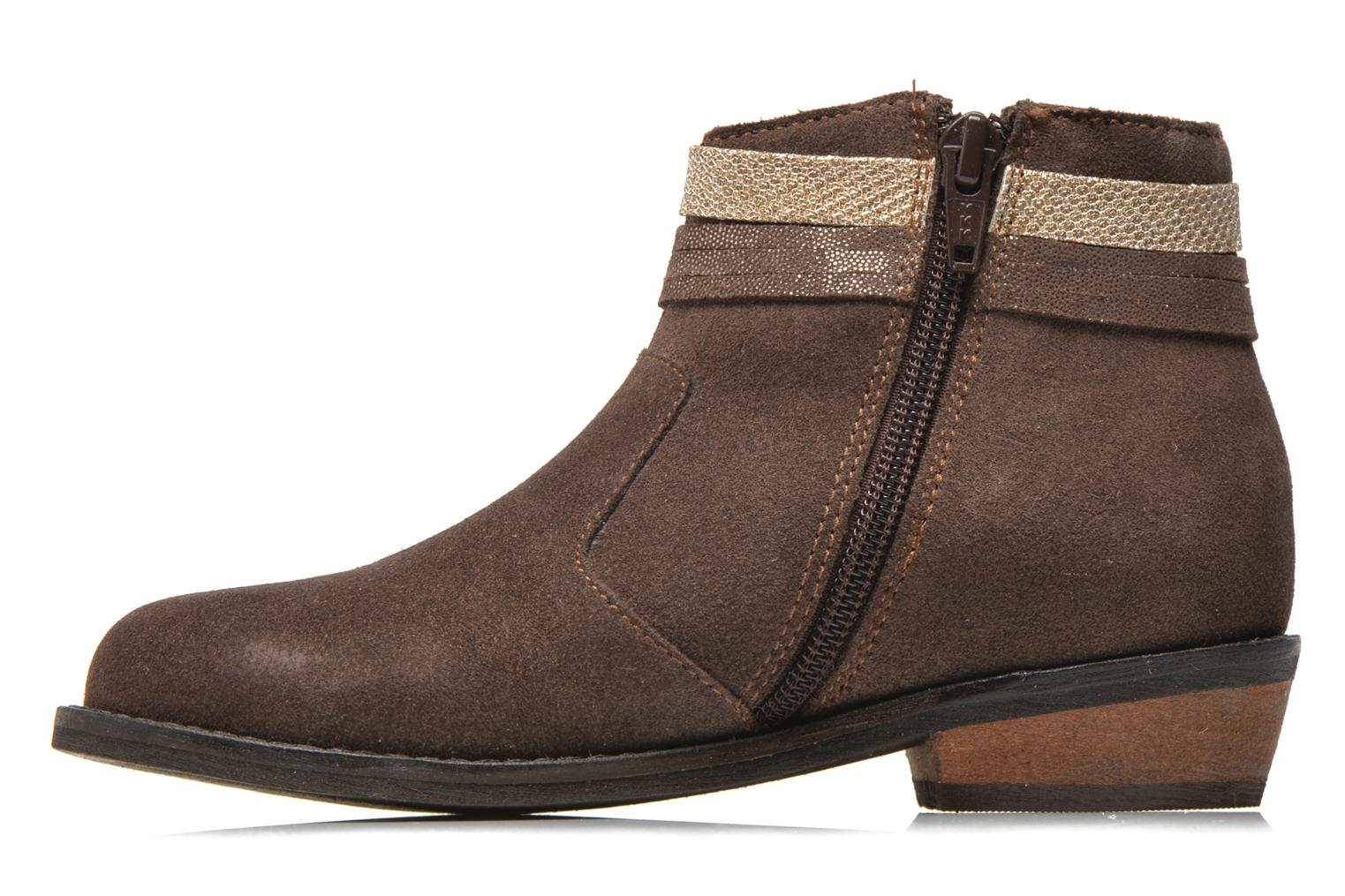 Ankle boots I Love Shoes KEPHYRS Leather Brown front view