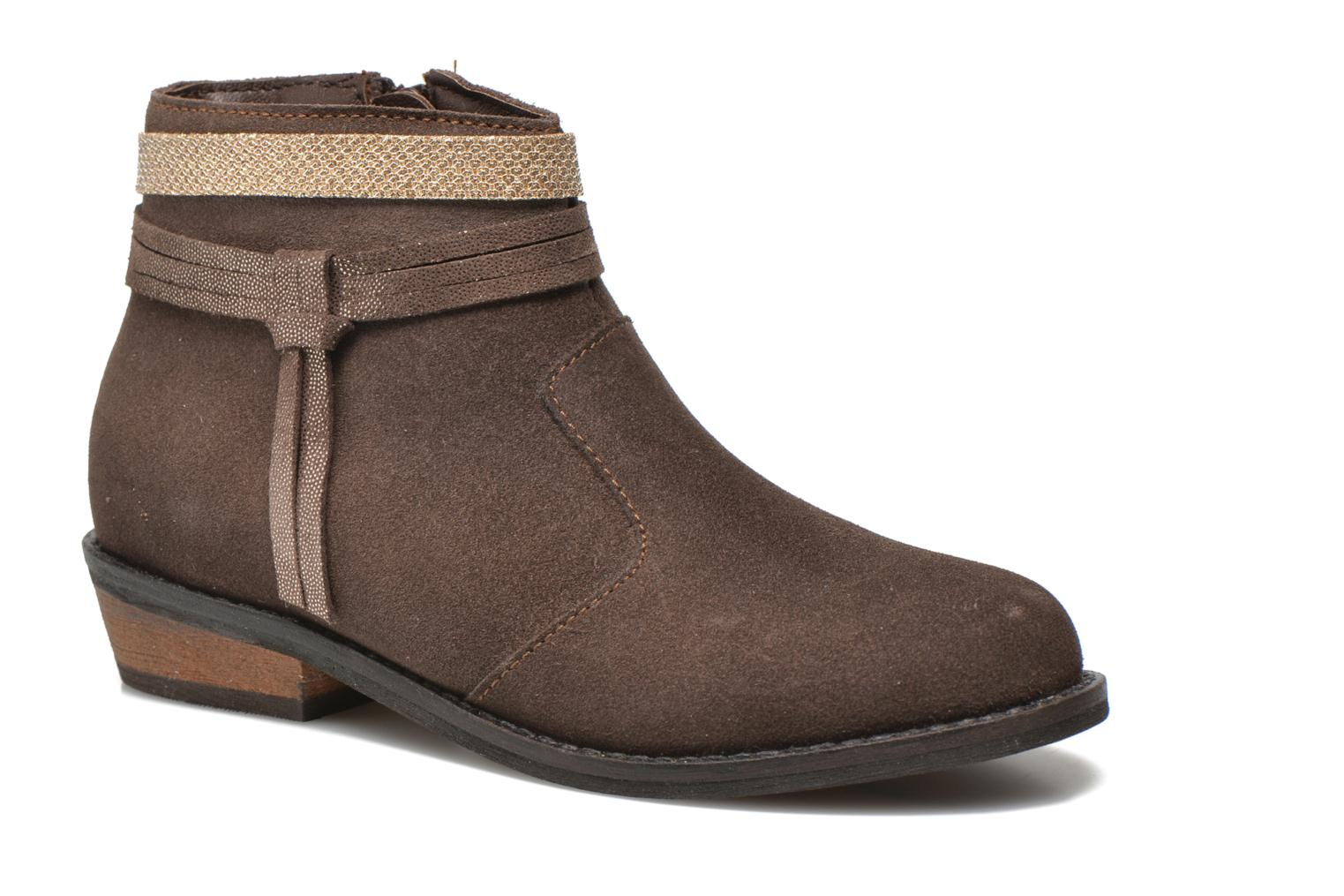 Ankle boots I Love Shoes KEPHYRS Leather Brown detailed view/ Pair view