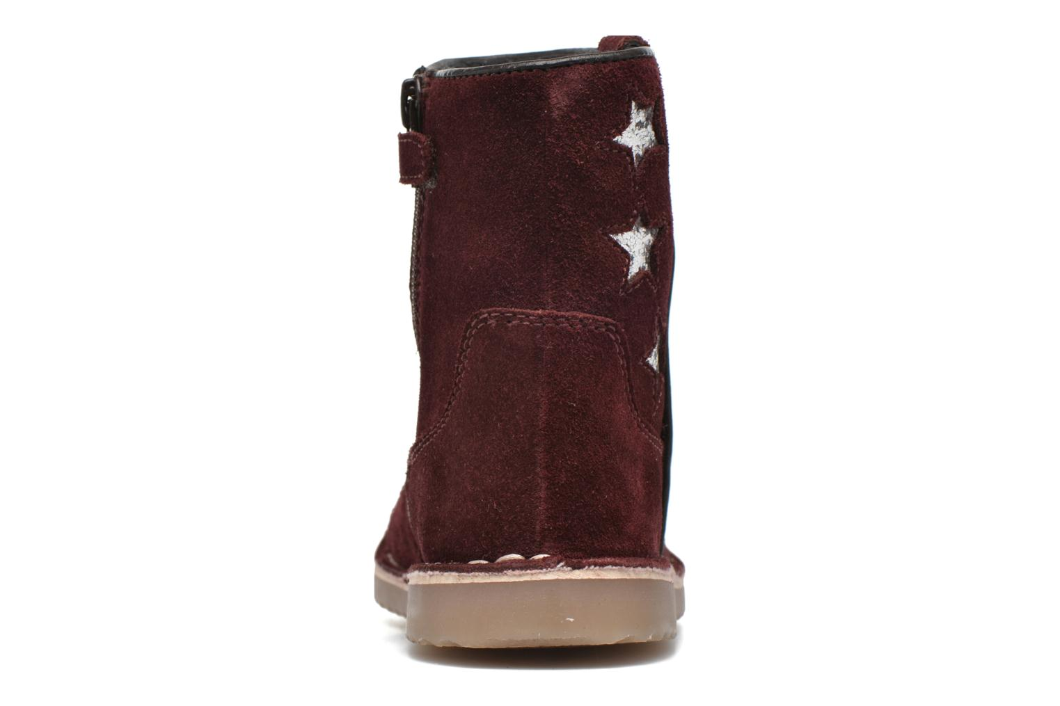 Ankle boots I Love Shoes KETMIES Leather Burgundy view from the right