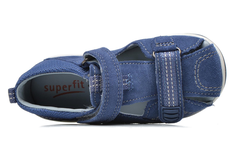 Sandales et nu-pieds Superfit Freddy Bleu vue gauche
