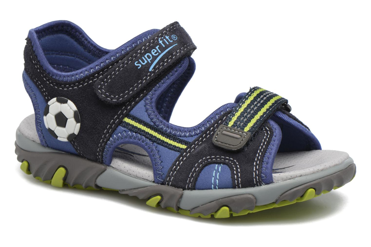Sandals Superfit Mike 2 Blue detailed view/ Pair view