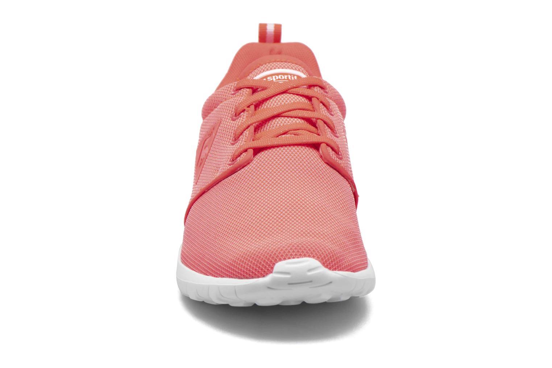 Baskets Le Coq Sportif Dynacomf W Poke Mesh Orange vue portées chaussures