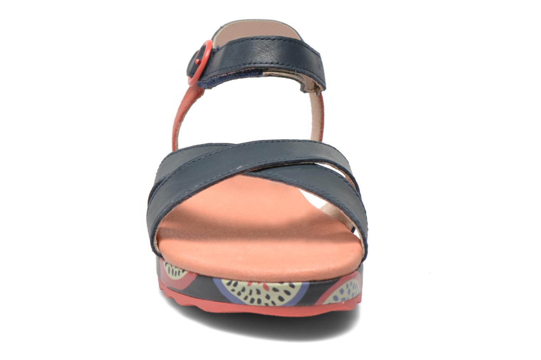 Sandales et nu-pieds Camper Pinya Kids Bleu vue portées chaussures