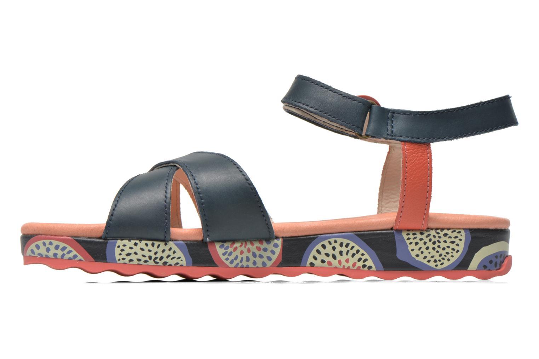 Sandales et nu-pieds Camper Pinya Kids Bleu vue face