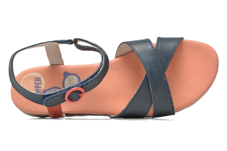 Sandales et nu-pieds Camper Pinya Kids Bleu vue gauche