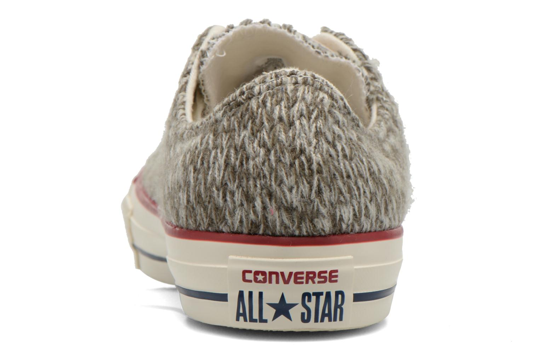 Baskets Converse Chuck Taylor All Star Ox Knit W Gris vue droite