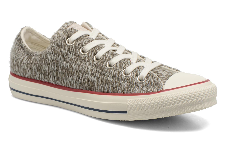 Baskets Converse Chuck Taylor All Star Ox Knit W Gris vue détail/paire