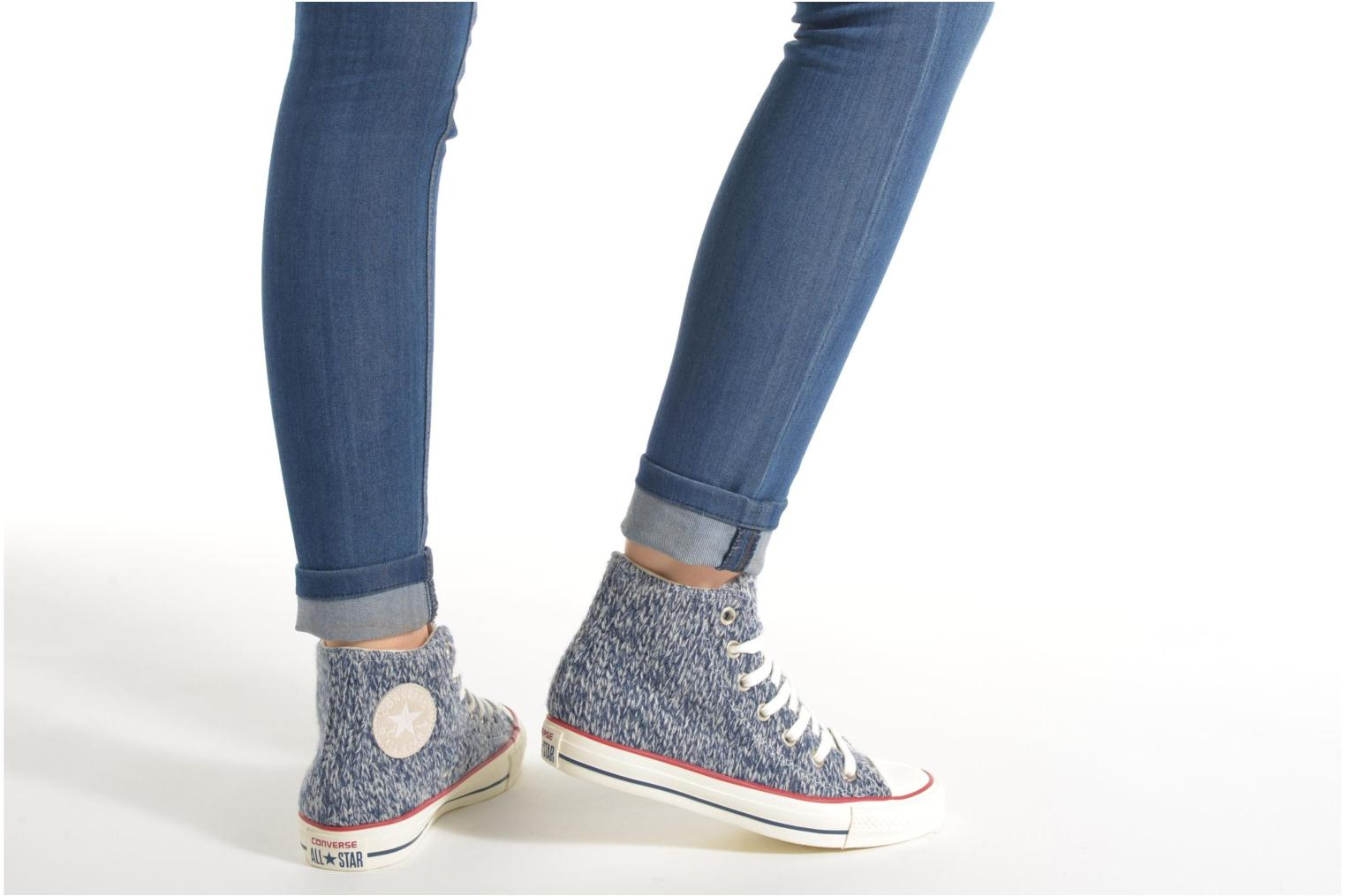 Trainers Converse Chuck Taylor All Star Hi Knit W Blue view from underneath / model view