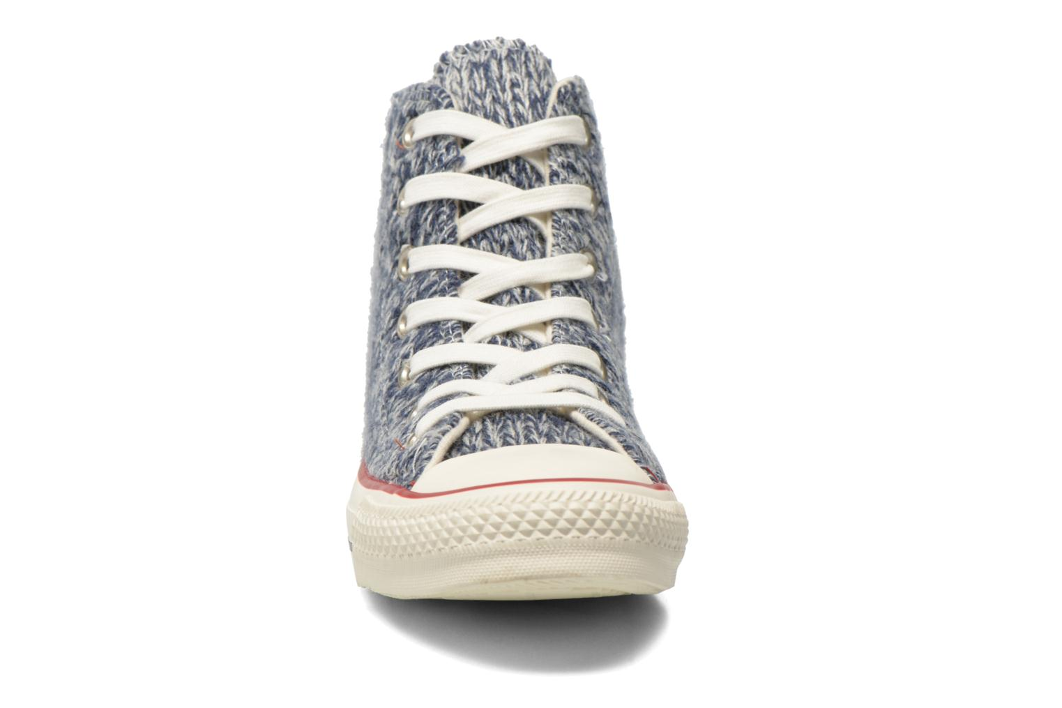 Trainers Converse Chuck Taylor All Star Hi Knit W Blue model view