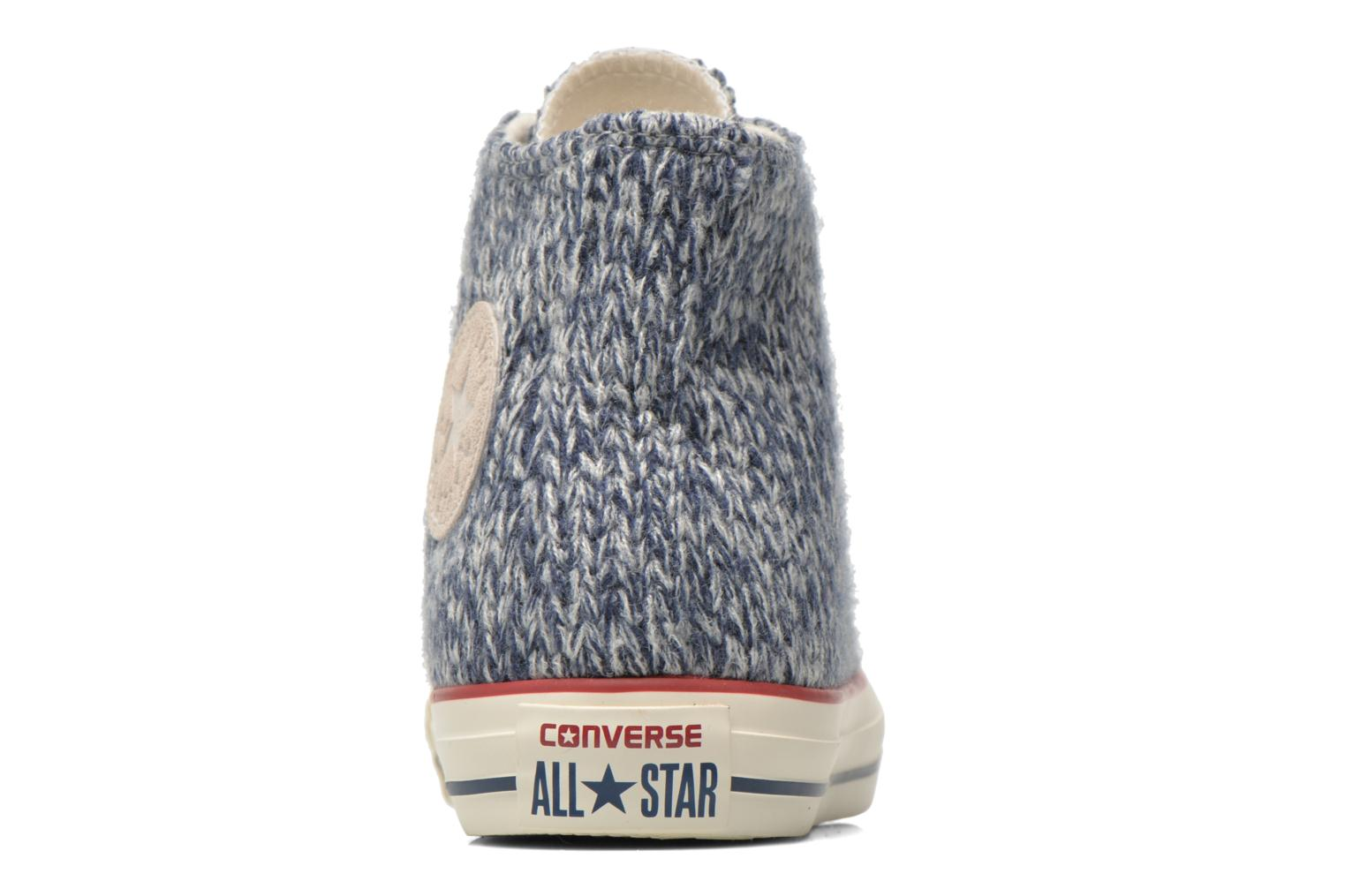 Trainers Converse Chuck Taylor All Star Hi Knit W Blue view from the right
