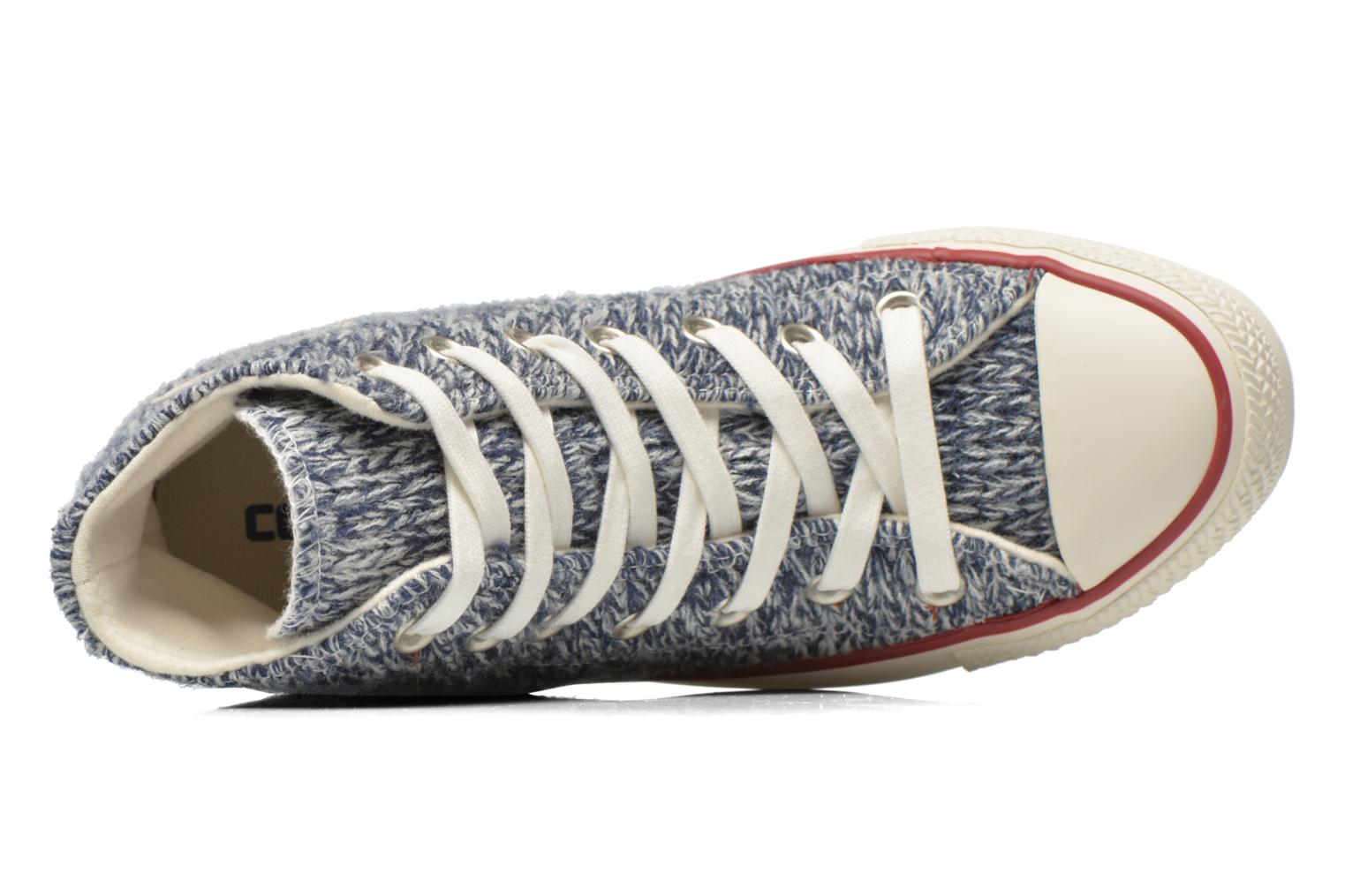Trainers Converse Chuck Taylor All Star Hi Knit W Blue view from the left