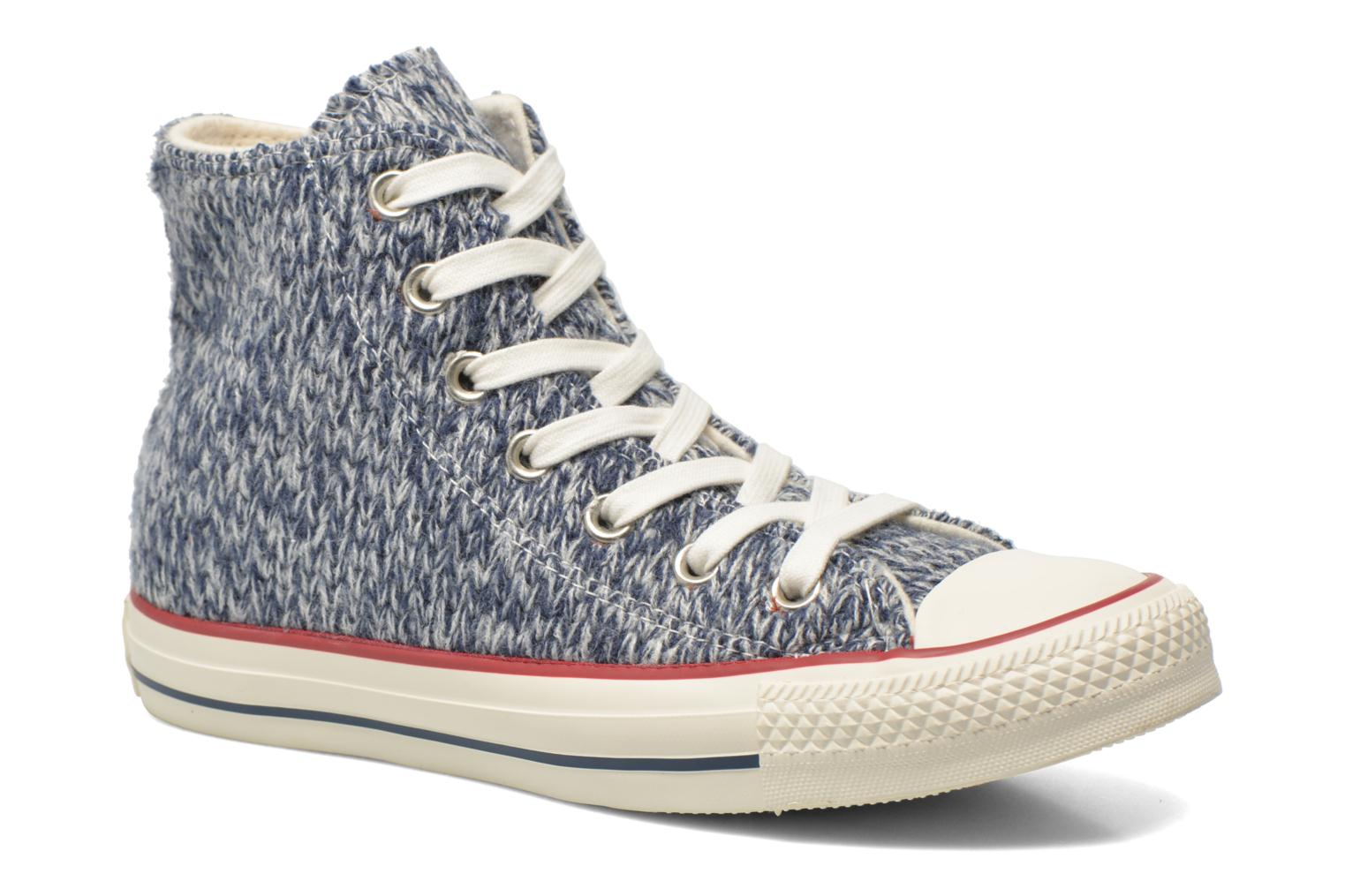 Trainers Converse Chuck Taylor All Star Hi Knit W Blue detailed view/ Pair view