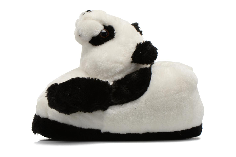 Pantuflas Sleeperz Pandas 2 Negro vista de frente