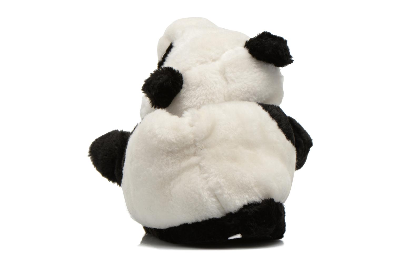 Pantuflas Sleeperz Pandas 2 Negro vista lateral derecha