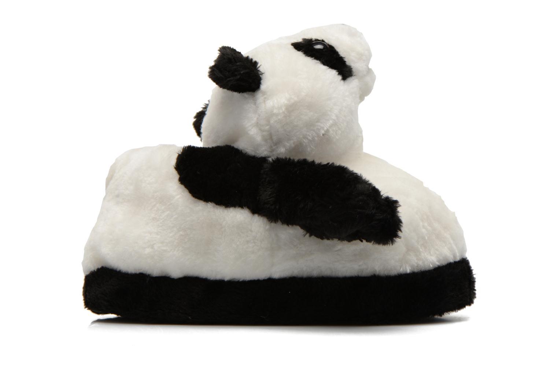 Pantuflas Sleeperz Pandas 2 Negro vistra trasera