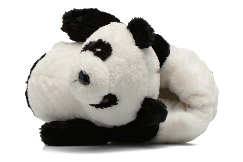 Pantuflas Sleeperz Pandas 2 Negro vista lateral izquierda