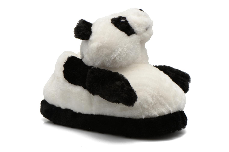 Pantuflas Sleeperz Pandas 2 Negro vista de detalle / par