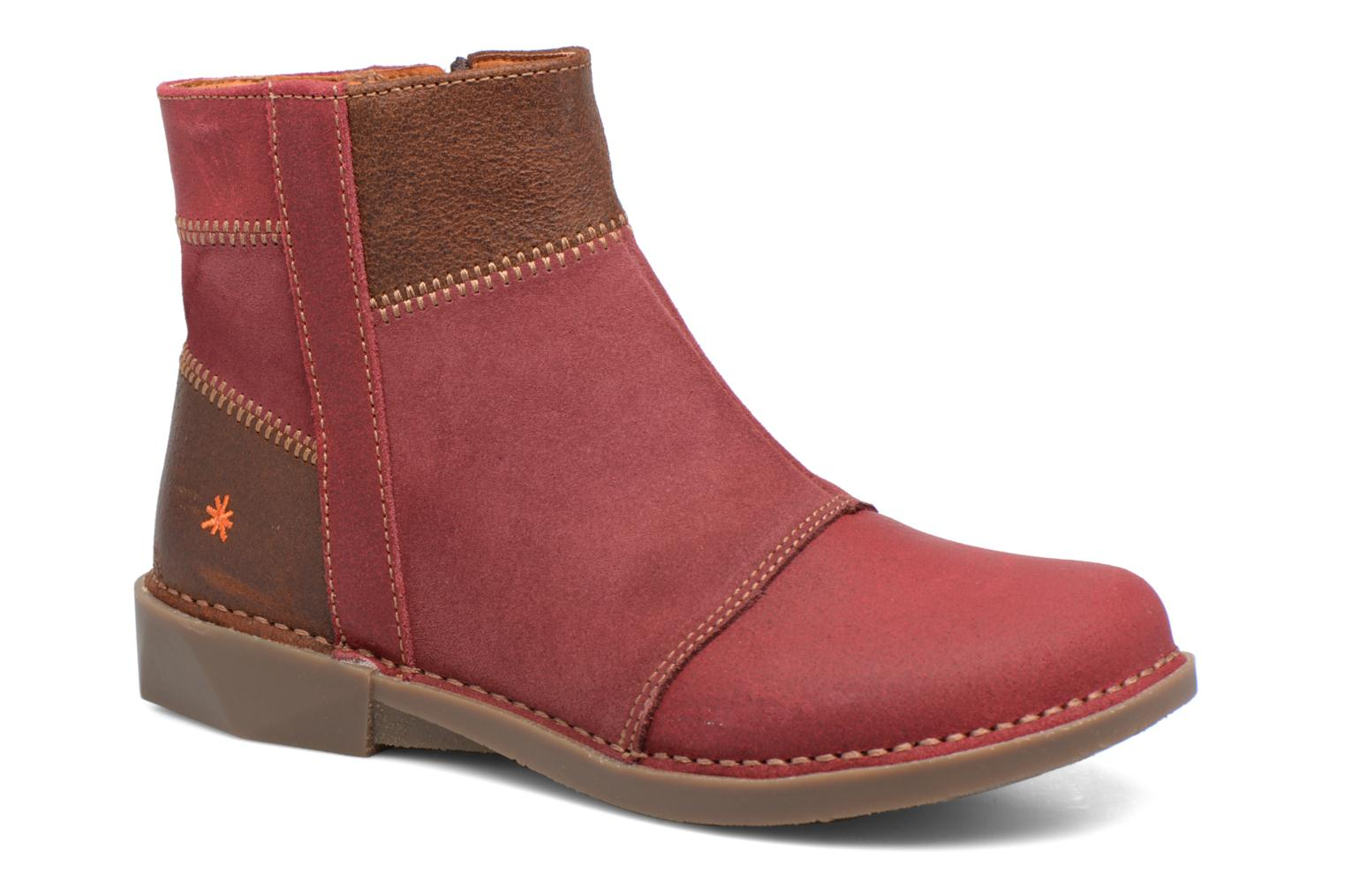 Ankle boots Art Bergen 849 Red detailed view/ Pair view